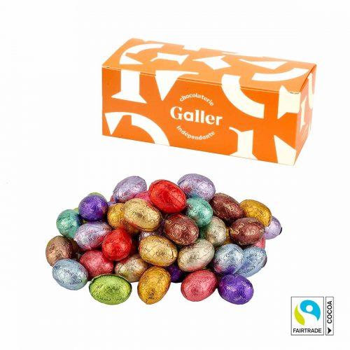 Oeufs de Pâques en chocolat Fairtrade Galler 500g
